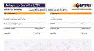 telegrama laboral