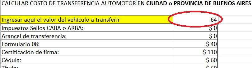 Calcular transferencia moto argentina